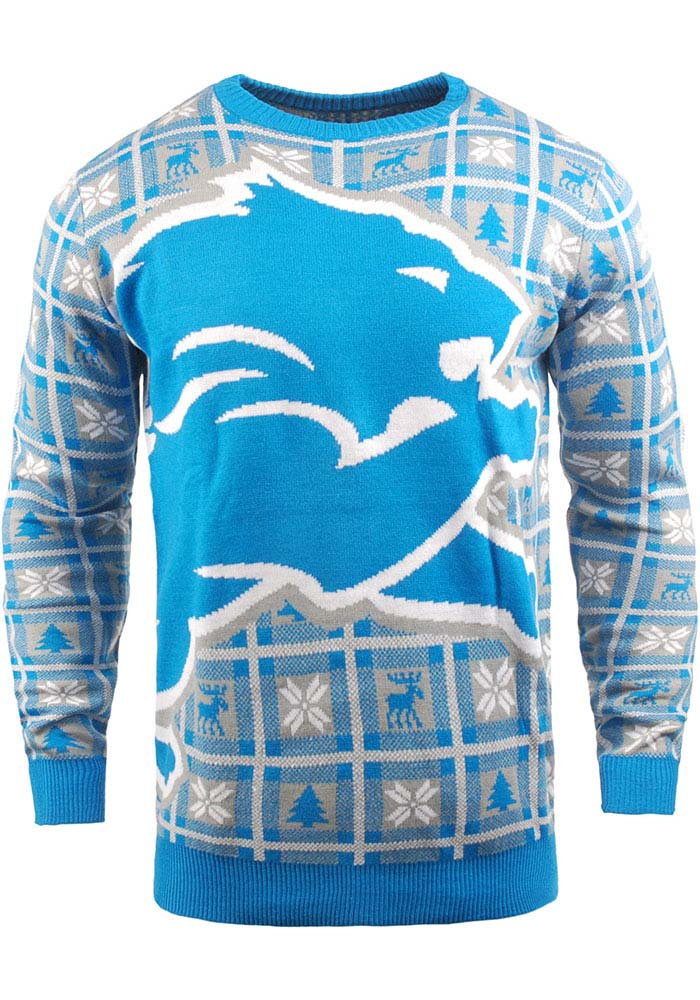 Detroit Lions Blue Big Logo Sweater