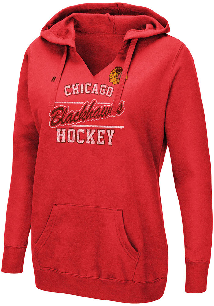 Majestic Chicago Blackhawks Womens Red Raise the Level Hoodie