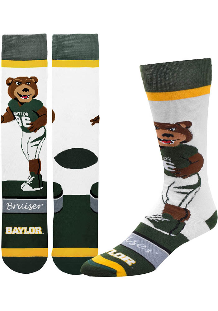 Baylor Bears Mascot Bobblehead Mens Dress Socks