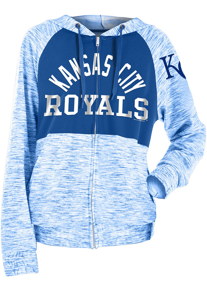 Kansas City Royals Womens Blue Novelty Space Dye Contrast Full Zip Jacket
