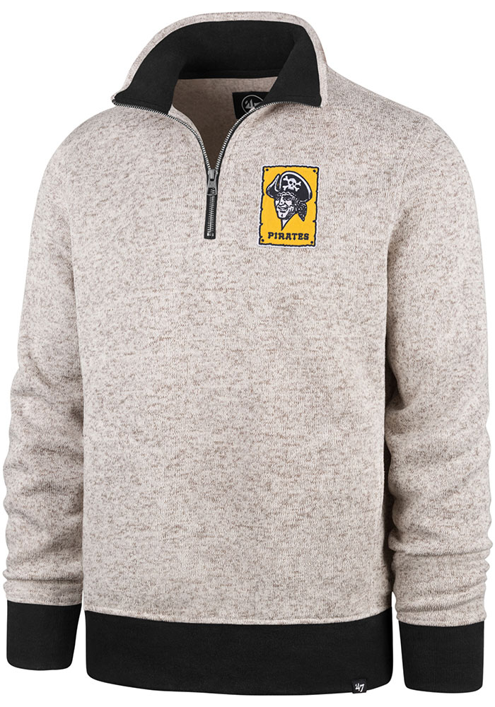 '47 Pittsburgh Pirates Brown Kodiak 1/4 Zip 1/4 Zip Fashion Pullover