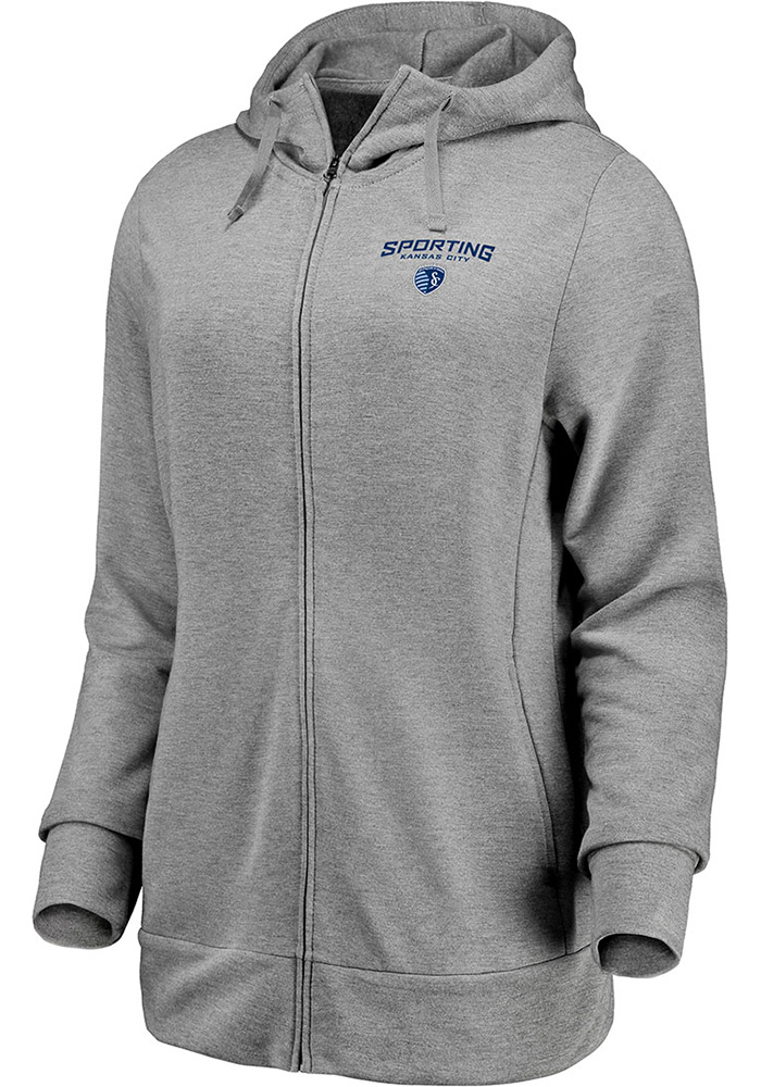 40e488eab650 Sporting Kansas City Womens Grey Lock Up Full Zip Jacket