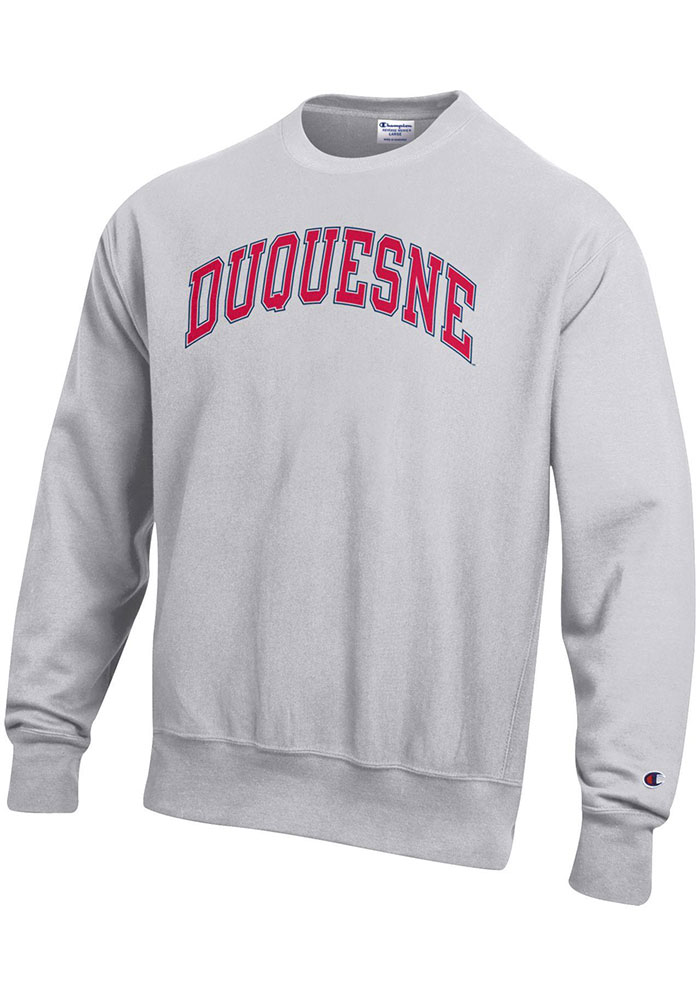 Champion Duquesne Dukes Grey Reverse Weave Sweatshirt