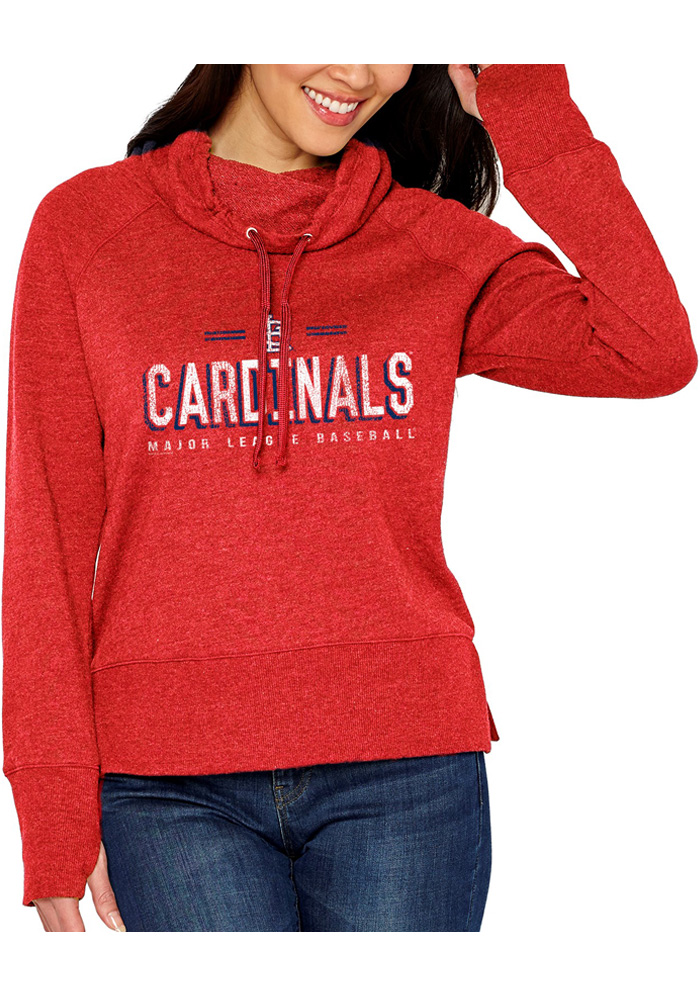d0289dcf2477 St Louis Cardinals Womens French Terry Funnel Red Crew Sweatshirt