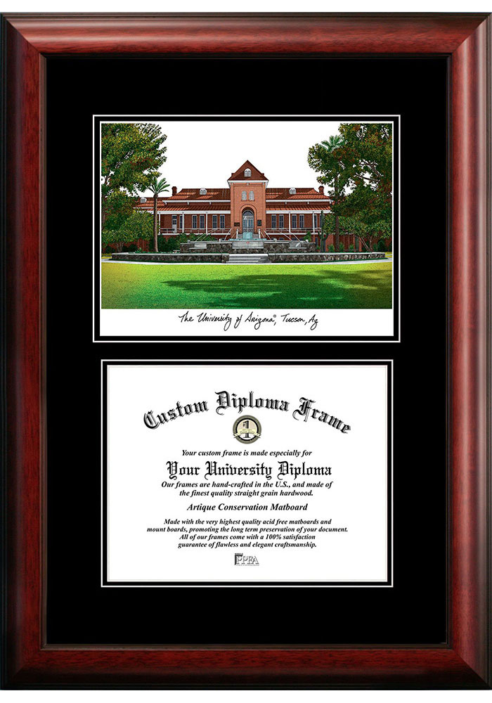 Arizona Wildcats Diplomate and Campus Lithograph Picture