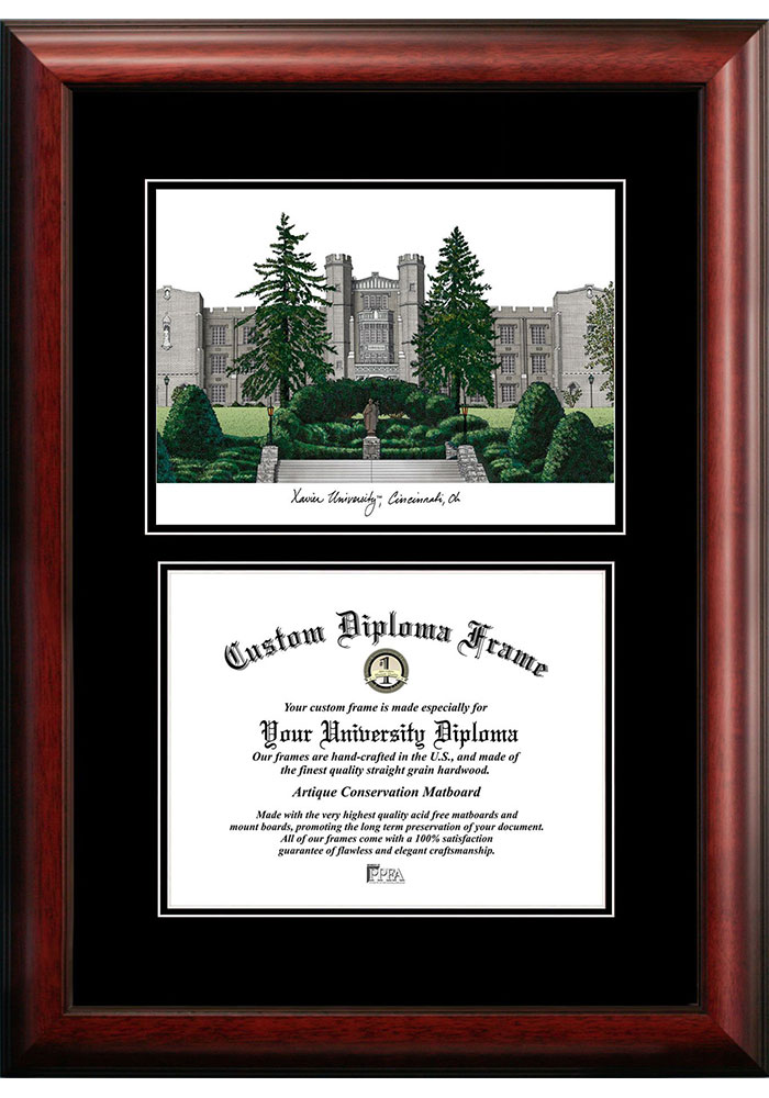 Xavier Musketeers Diplomate and Campus Lithograph Picture