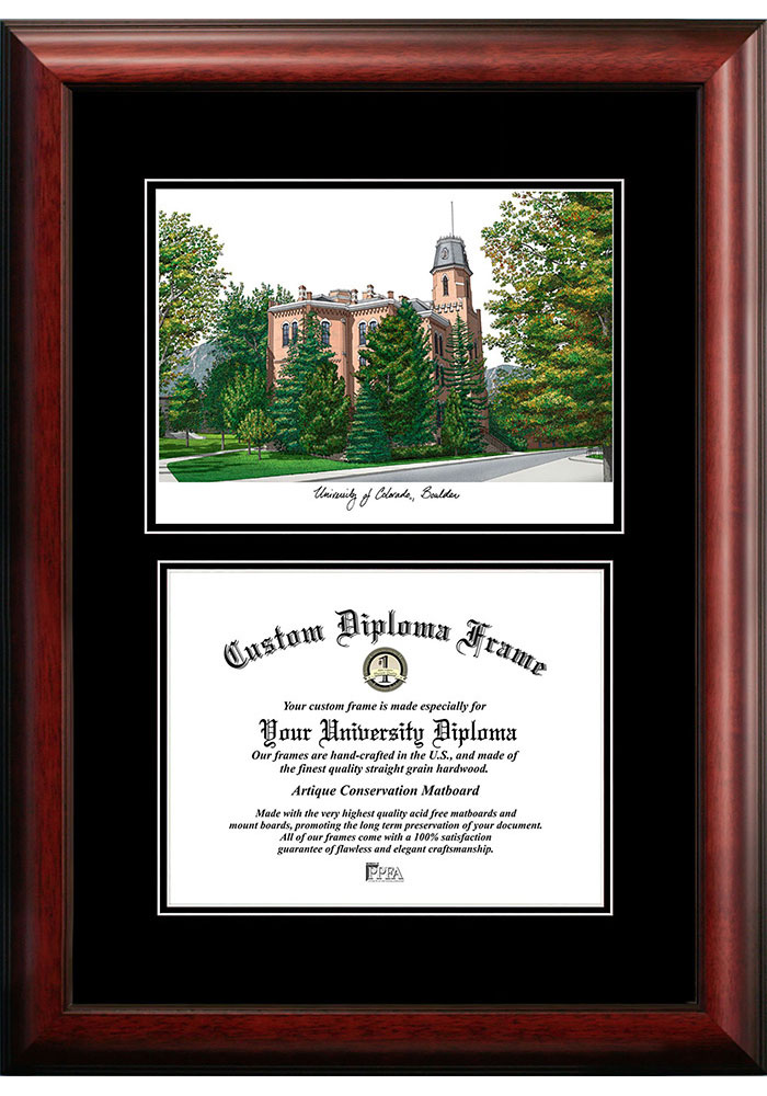Colorado Buffaloes Diplomate and Campus Lithograph Picture