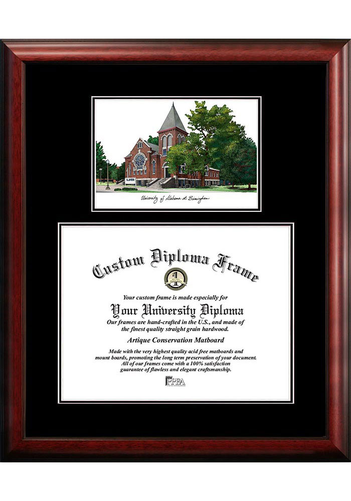 UAB Blazers Diplomate and Campus Lithograph Picture
