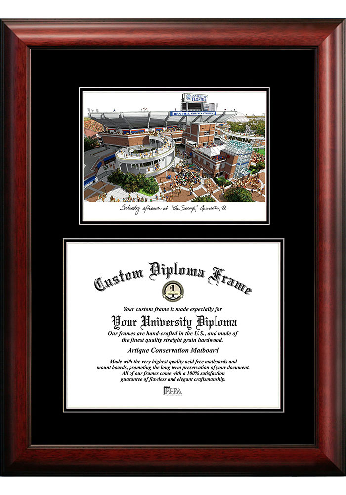 Florida Gators Diplomate and Campus Lithograph Picture