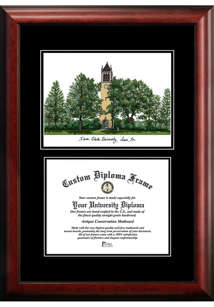Iowa State Cyclones Diplomate and Campus Lithograph