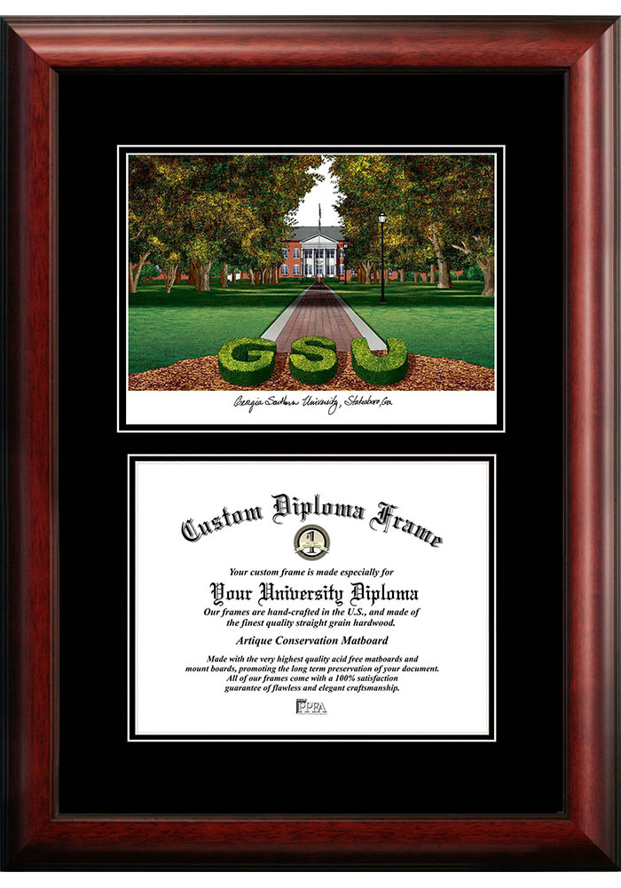 Georgia Southern Eagles Diplomate and Campus Lithograph