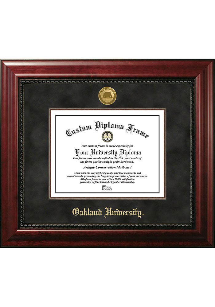 Oakland University Golden Grizzlies Executive Diploma Picture