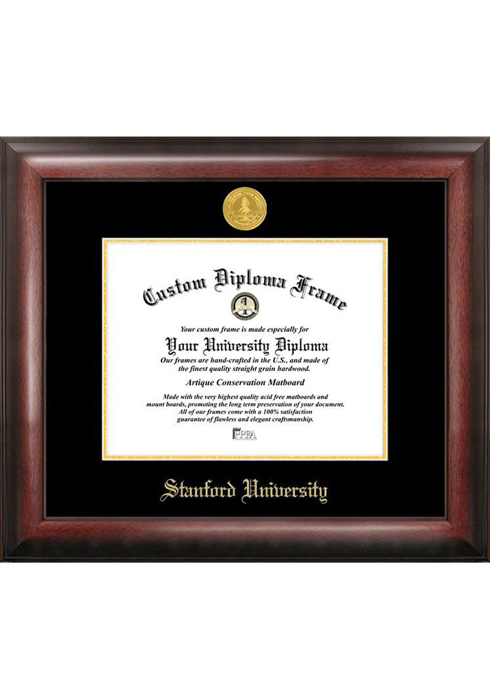 Stanford Cardinal Gold Embossed Diploma Frame Picture