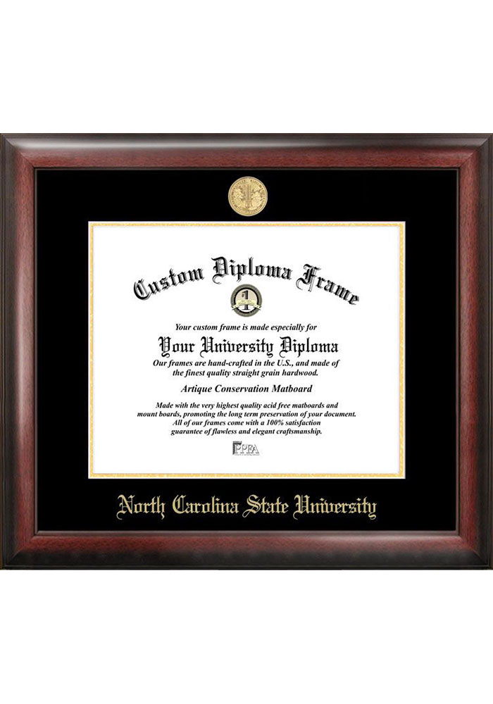 NC State Wolfpack Gold Embossed Diploma Frame