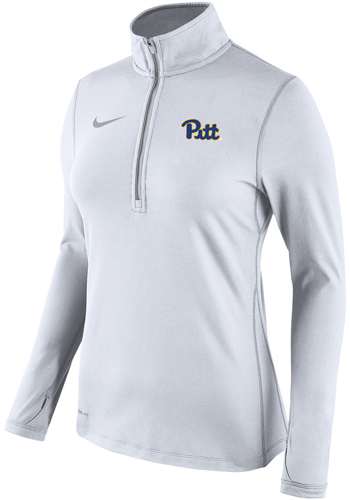 Nike Pitt Panthers Womens Element White 1/4 Zip Pullover