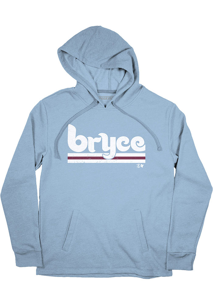 Bryce Harper Mens Light Blue Philly Player Hood