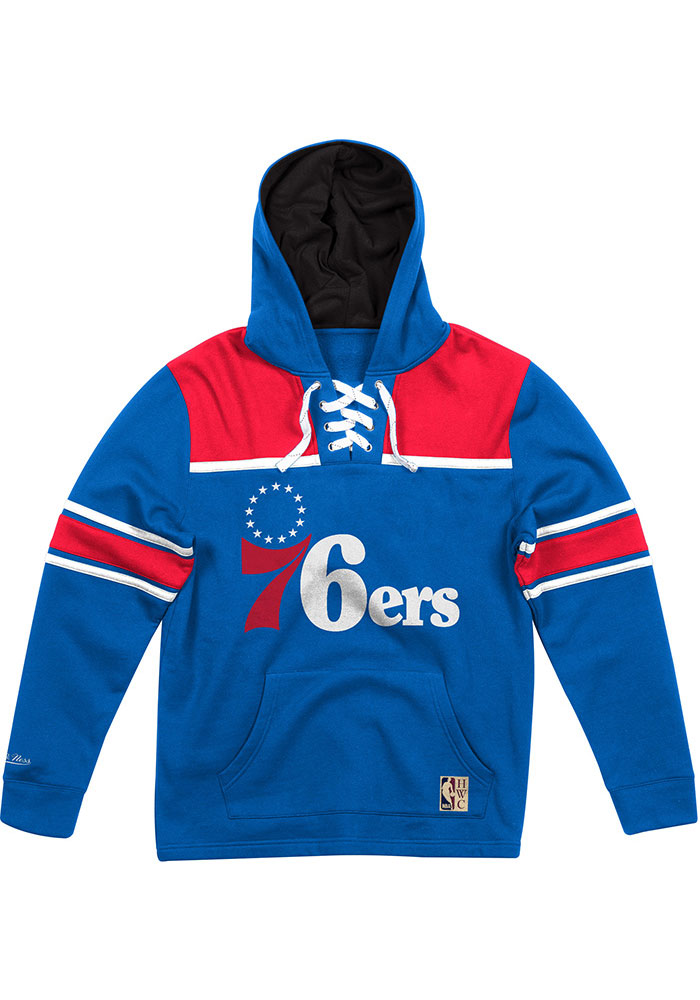 Mitchell and Ness Philadelphia 76ers Hockey Hood Blue Fashion Hood