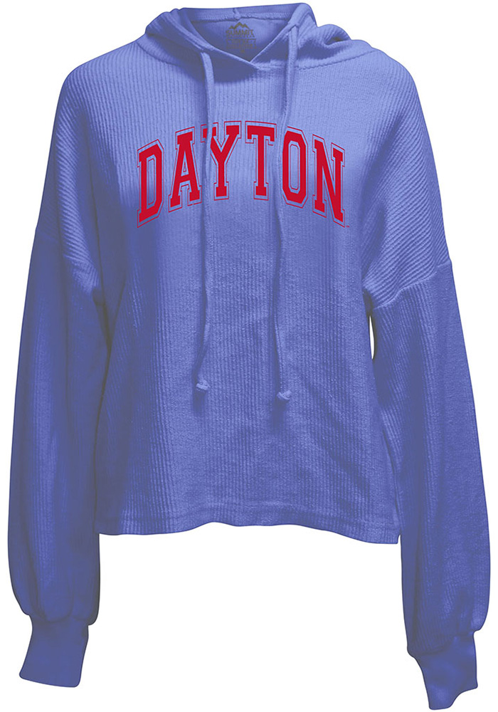 Dayton Flyers Womens Blue Corded Hoodie