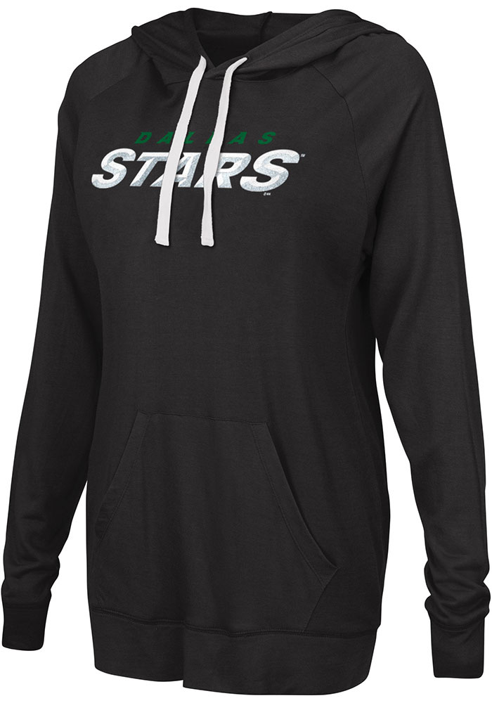 Dallas Stars Womens Black Pre-Game Hoodie