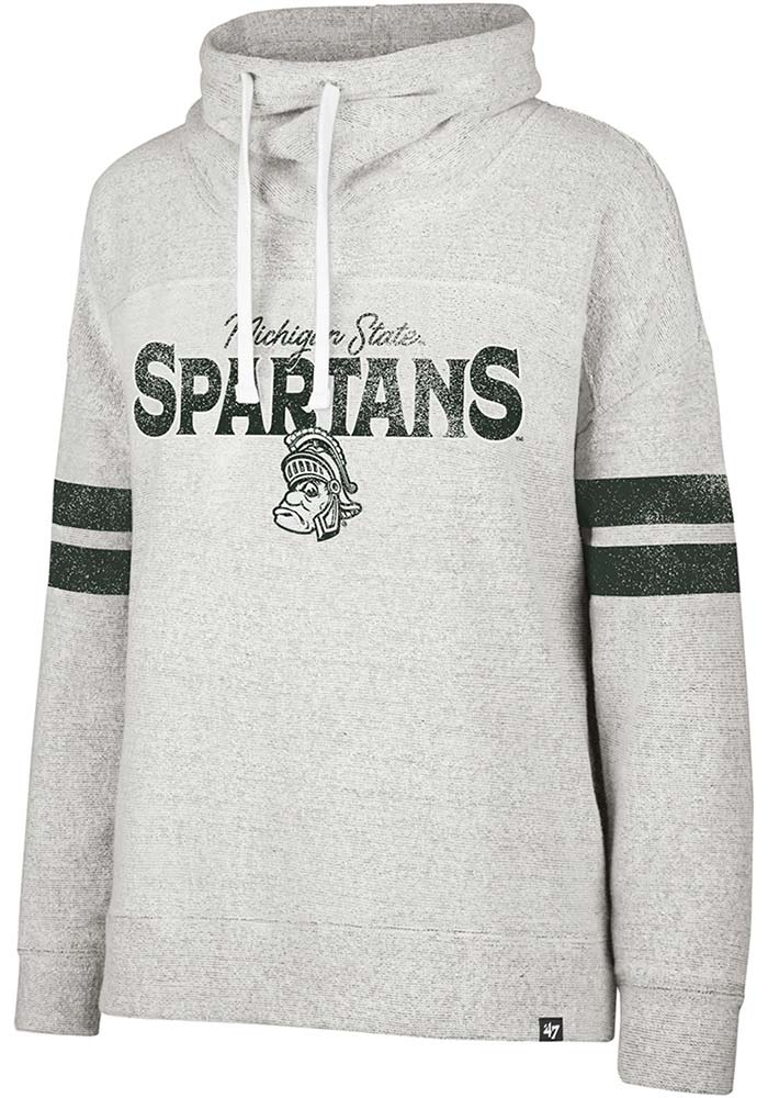'47 Michigan State Spartans Womens Offsides Grey Crew Sweatshirt