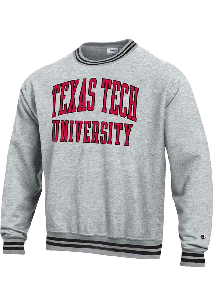Champion Texas Tech Red Raiders Grey Reverse Weave Arch Sweatshirt