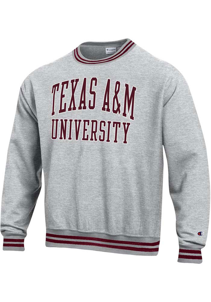 Champion Texas A&M Aggies Grey Reverse Weave Arch Sweatshirt