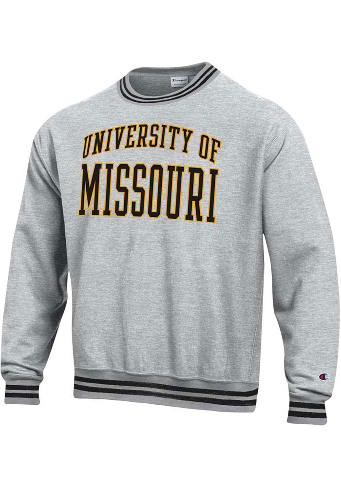 Champion Missouri Tigers Grey Reverse Weave Arch Sweatshirt